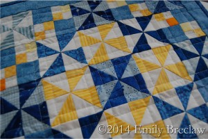 close-up quilting