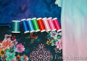 Hoffman fabric and thread
