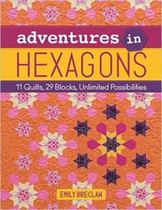 Cover image of the Book, Adventures in Hexagons, by Emily Breclaw